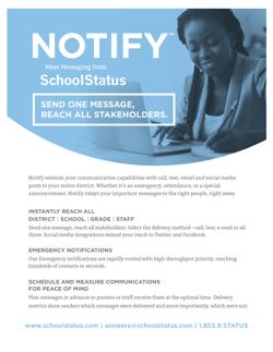 Notify - Mass Messaging Communication Tools from SchoolStatus