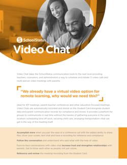 SchoolStatus Video Chat Overview PDF